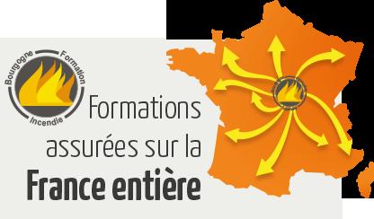 Formations assurées sur la France entière